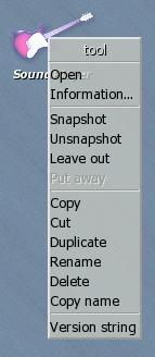 menu tool
